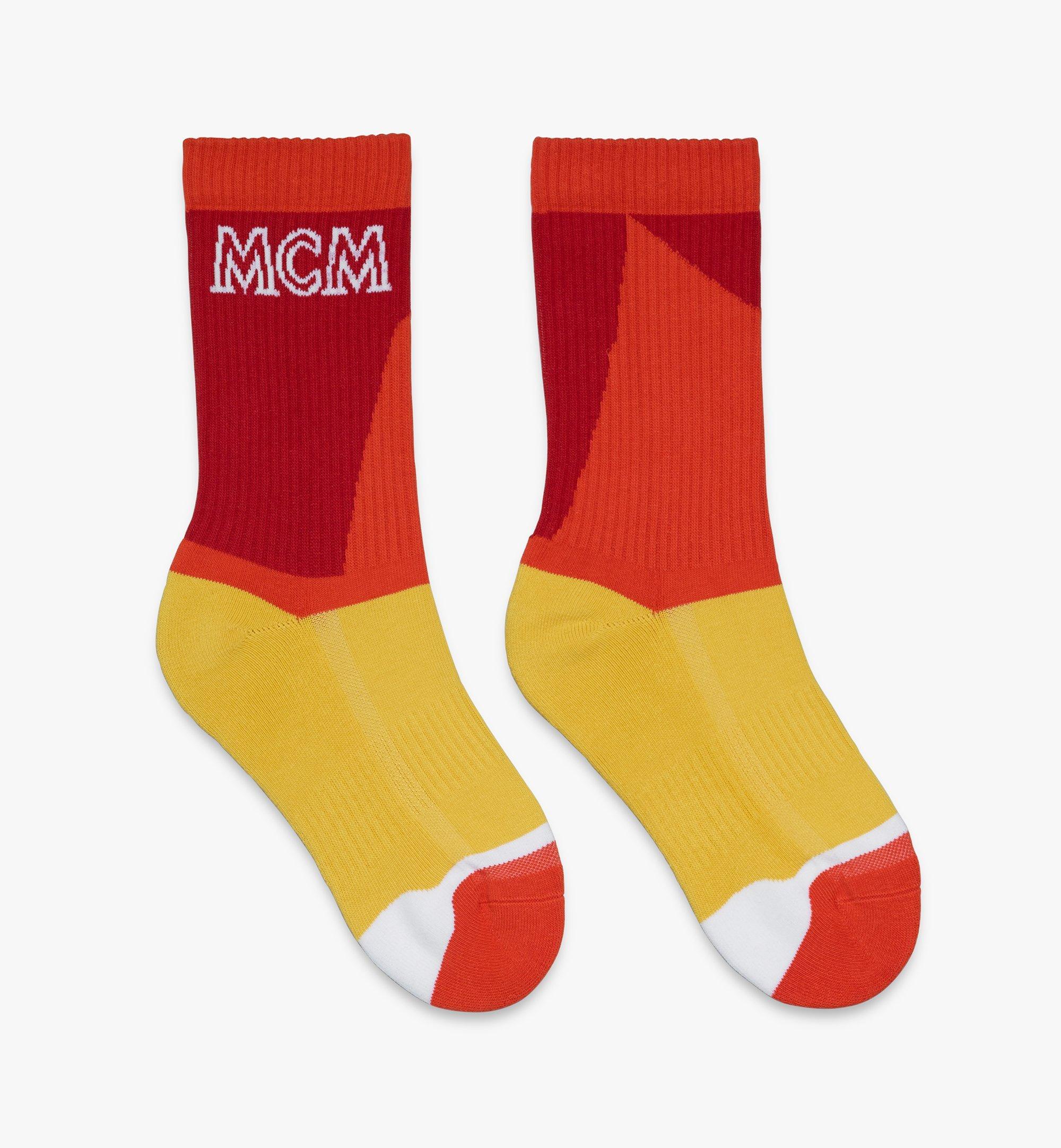 MCM Colorblock Cotton Socks  MEZASBM04RE0ML Alternate View 1