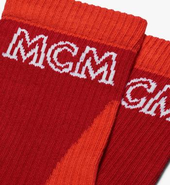 MCM Colorblock Cotton Socks  MEZASBM04RE0ML Alternate View 2