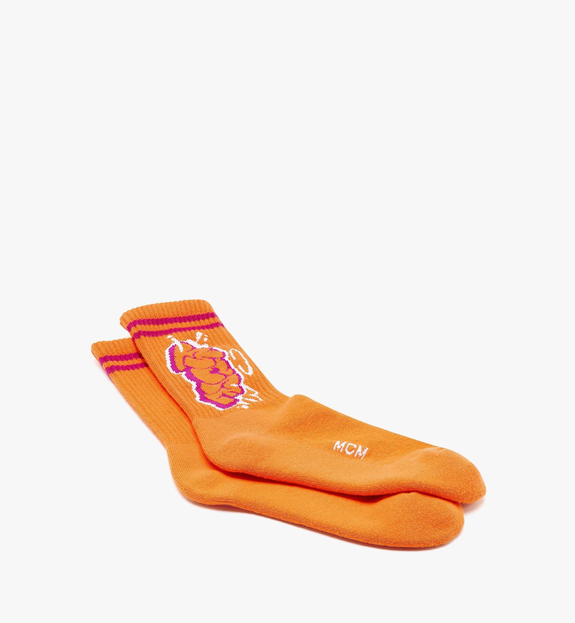 MCM MCM x SAMBYPEN 針織標誌襪子 Orange MEZBASP01OR0ML 更多視圖 1