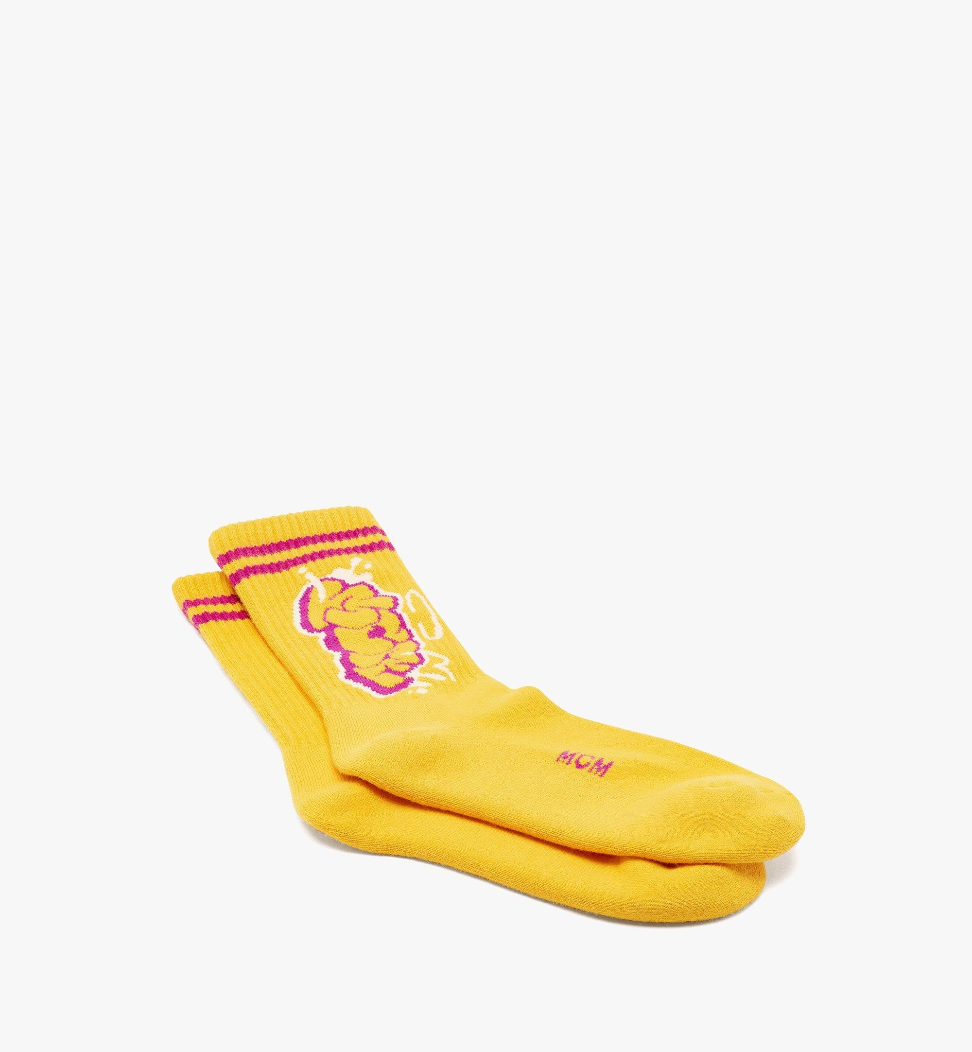 MCM MCM x SAMBYPEN 針織標誌襪子 Yellow MEZBASP01YW0ML 更多視圖 1