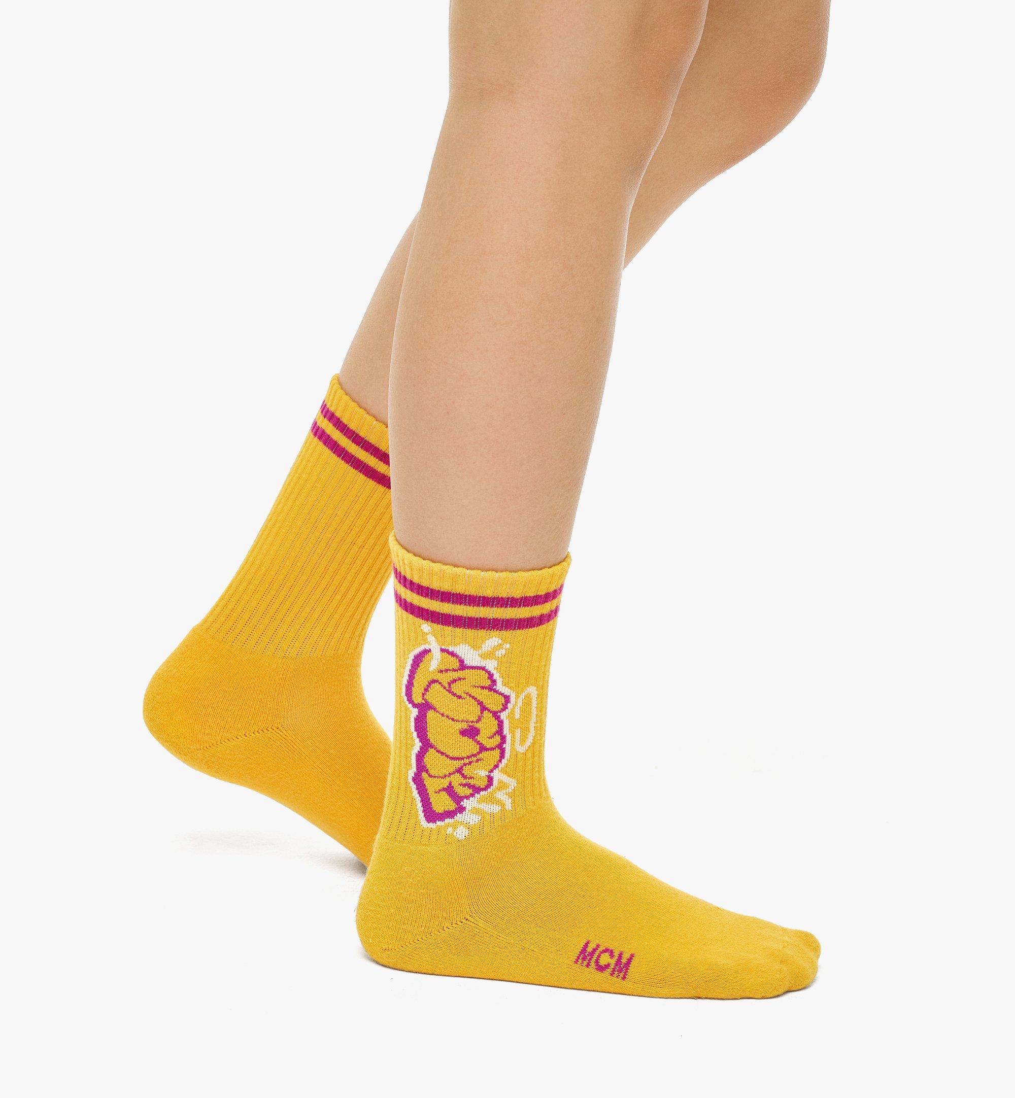 MCM MCM x SAMBYPEN 針織標誌襪子 Yellow MEZBASP01YW0ML 更多視圖 2