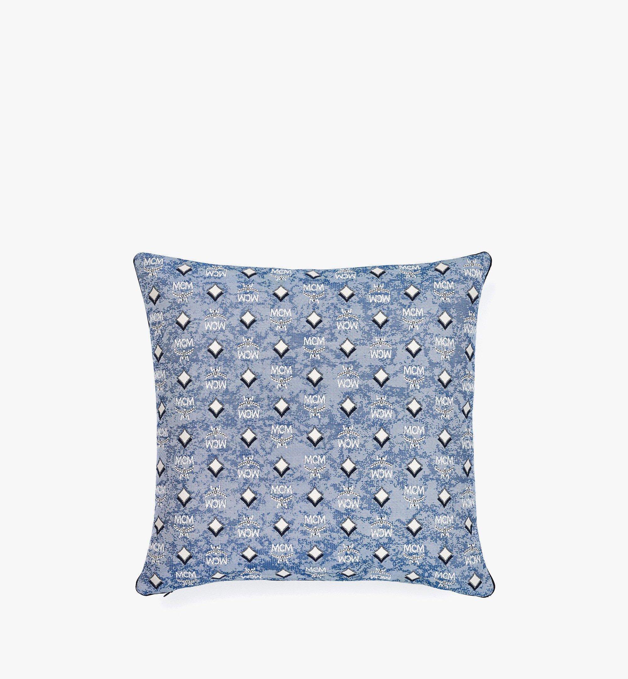 MCM Vintage Jacquard Monogram Cushion Blue MEZBATQ01LU001 Alternate View 1