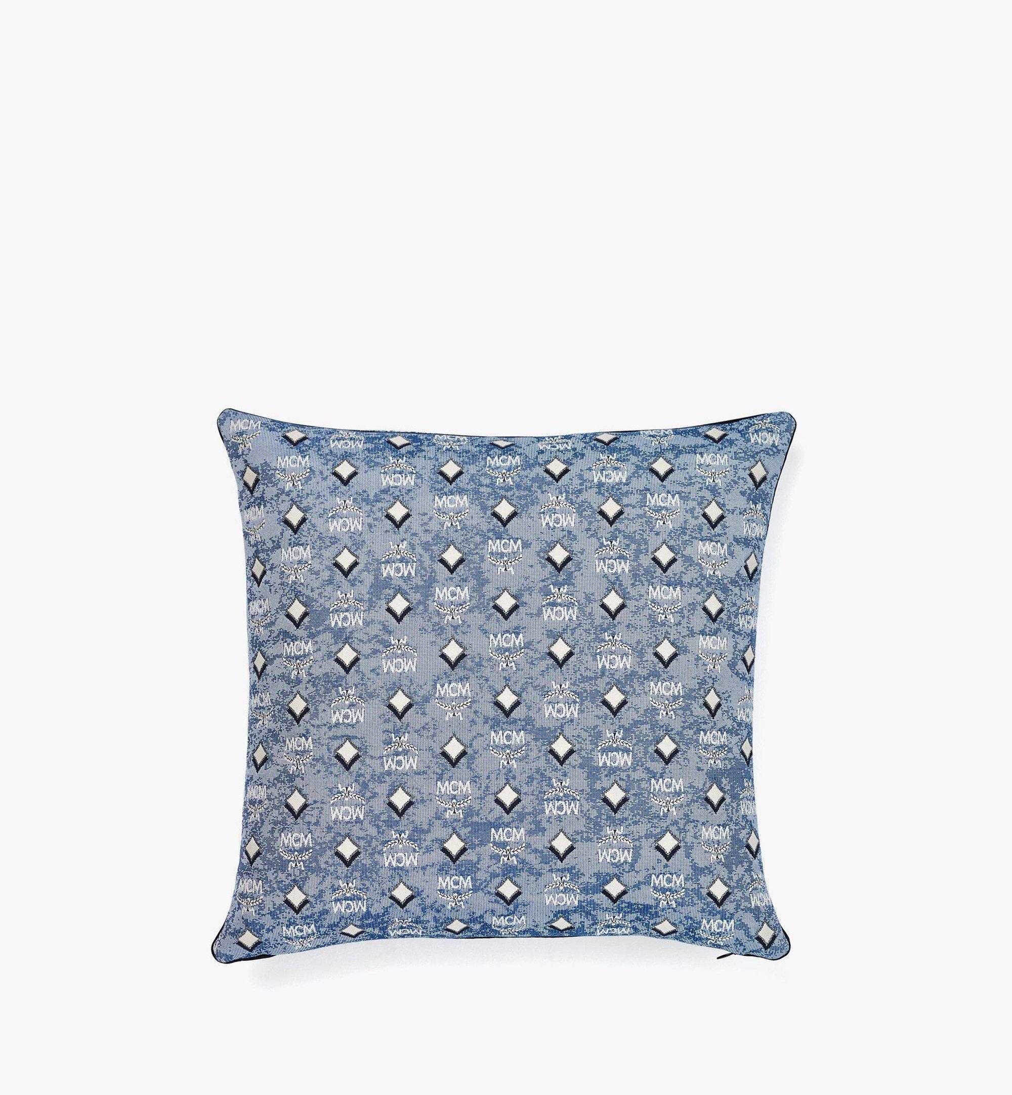 MCM Vintage Jacquard Monogram Cushion Blue MEZBATQ01LU001 Alternate View 2