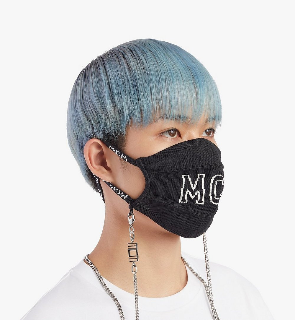 MCM MCM 附鏈條標誌編織口罩 Black MEZBSMM07BK001 更多視圖 2