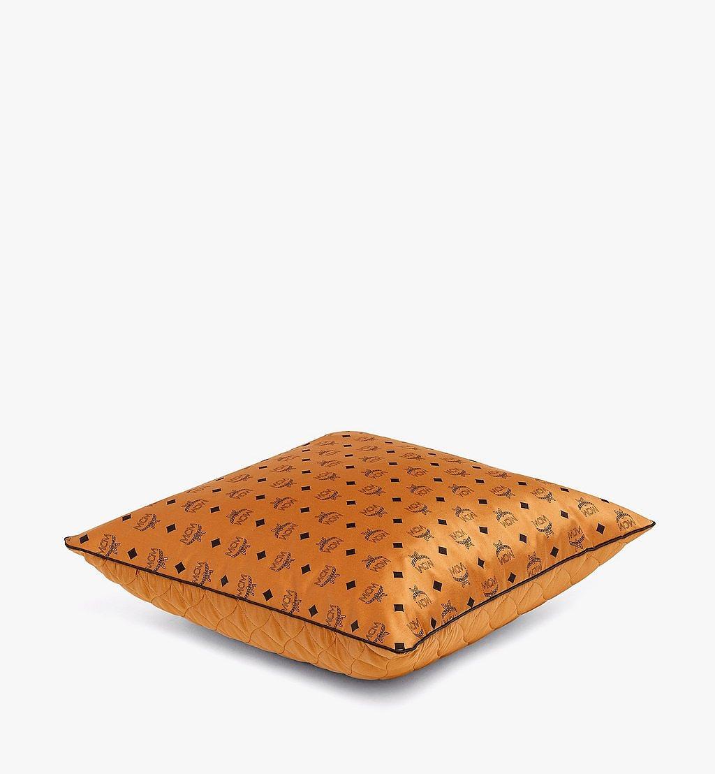 MCM Monogram Silk Satin Cushion Cognac MEZBSMM08CO001 Alternate View 1