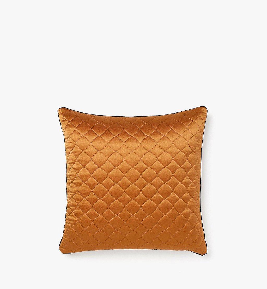 MCM Monogram Silk Satin Cushion Cognac MEZBSMM08CO001 Alternate View 2