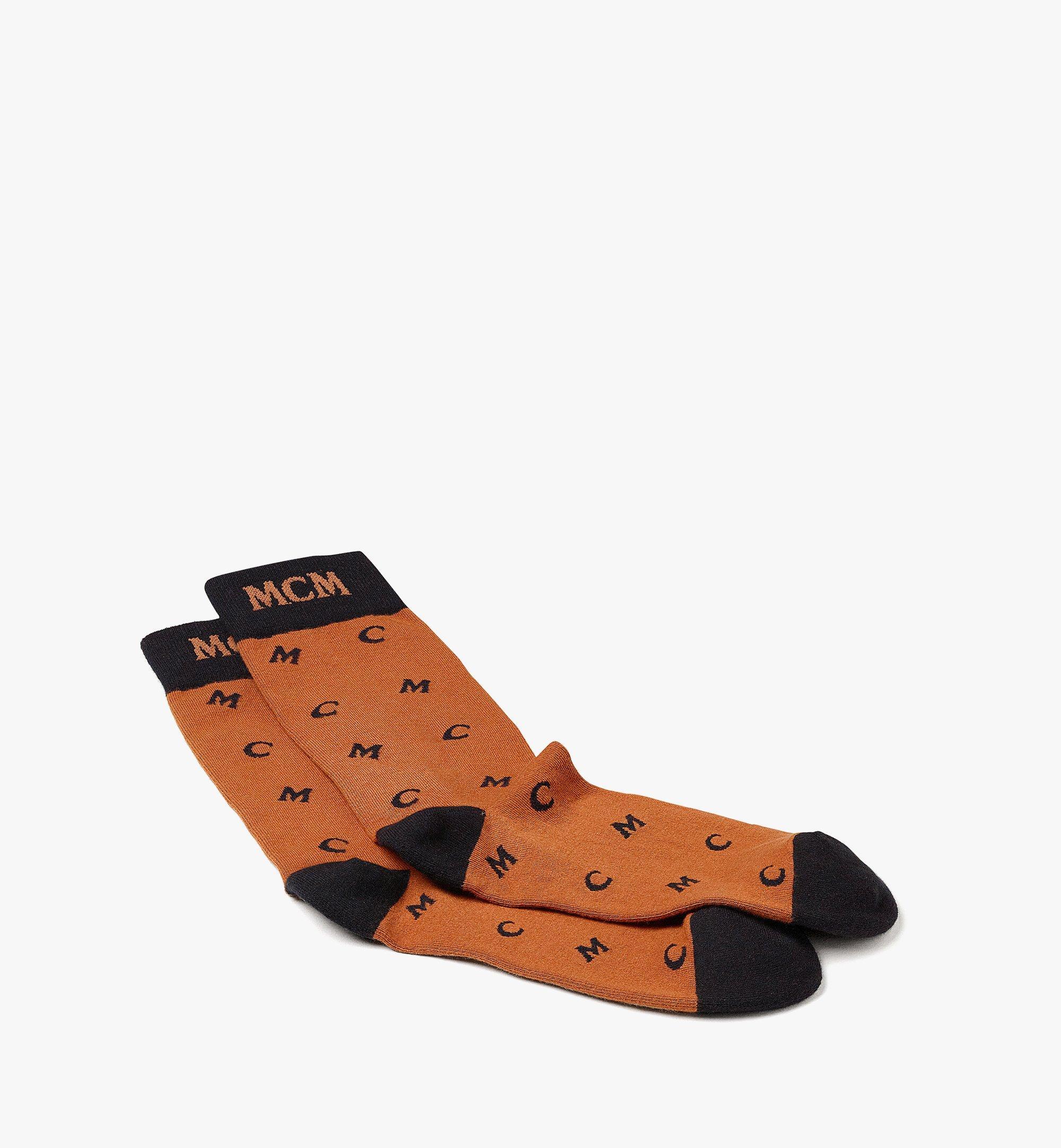 MCM Socken mit MCM-Monogramm als Strickintarsie  MEZBSMM09CO0SM Noch mehr sehen 1
