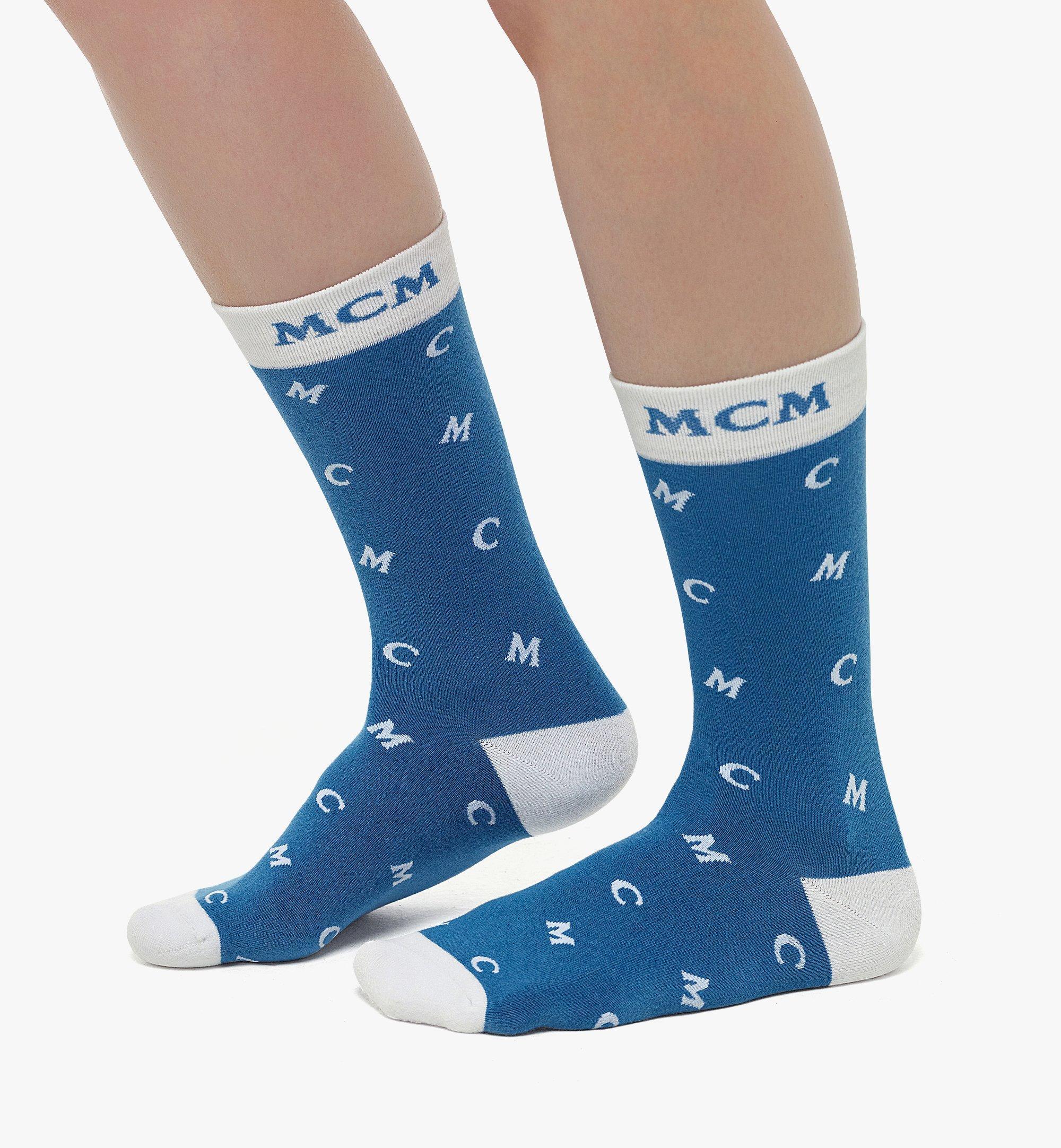 MCM Intarsia Knit MCM Monogram Socks  MEZBSMM09H90SM 更多視圖 2