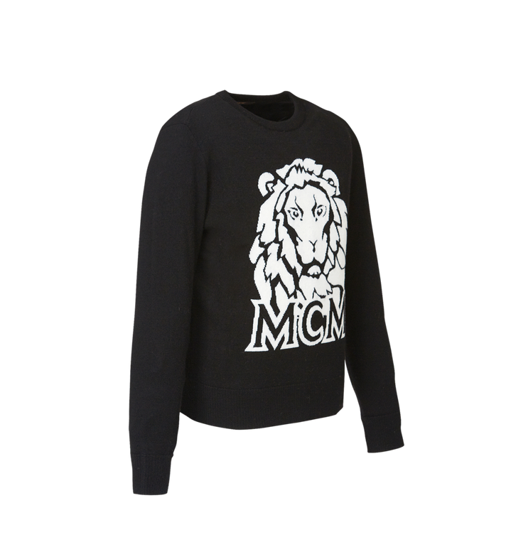MCM Women's Munich Lion Intarsia Sweater MFA8AMM18BK00L AlternateView2