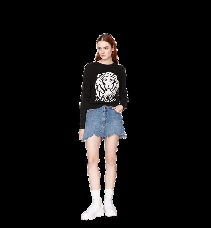 MCM Women's Munich Lion Intarsia Sweater MFA8AMM18BK00L AlternateView4