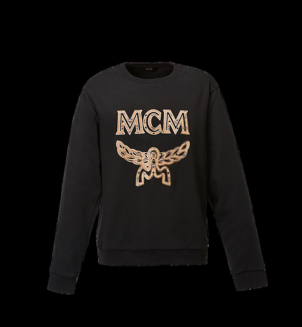MCM Women's Logo Sweatshirt Black MFA8SMM13BK00L Alternate View 1