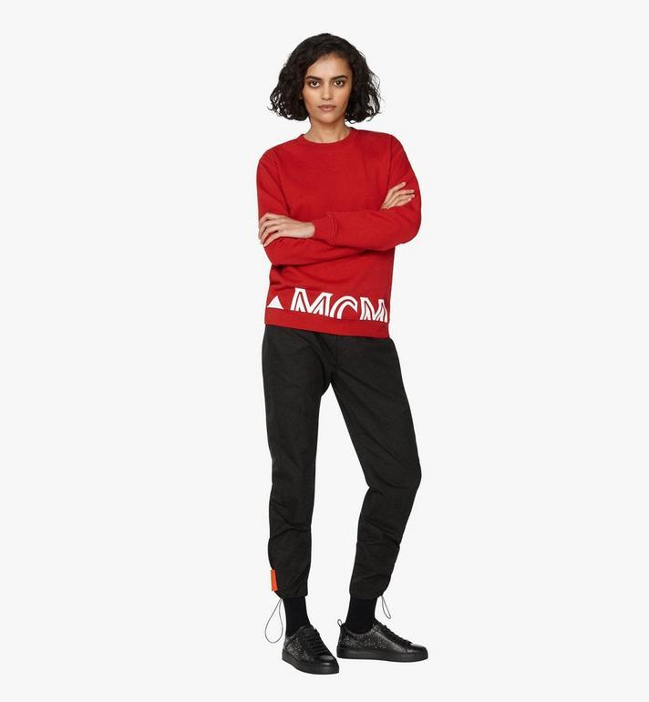 MCM Women's Milano Sweatshirt Red MFA9ADA74RU0XS Alternate View 3