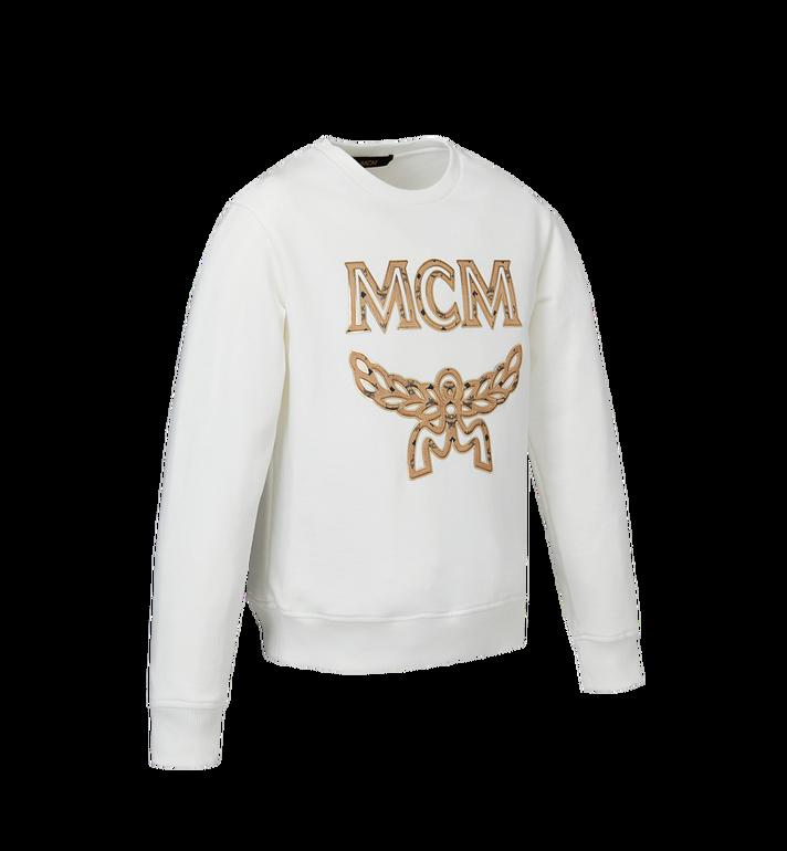 MCM Women's Logo Sweatshirt White MFA9SMM13WT00S Alternate View 2