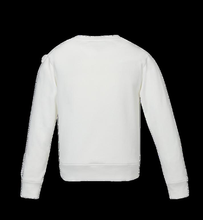 MCM Women's Logo Sweatshirt White MFA9SMM13WT00S Alternate View 3