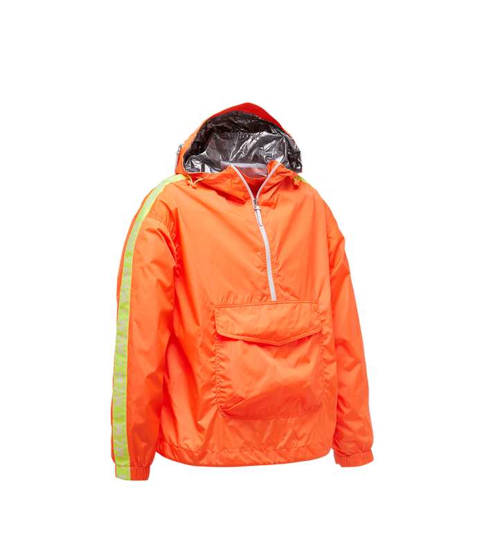 MCM Women's Webbed Anorak in Lightweight Nylon Orange MFA9SMM69OR040 Alternate View 2