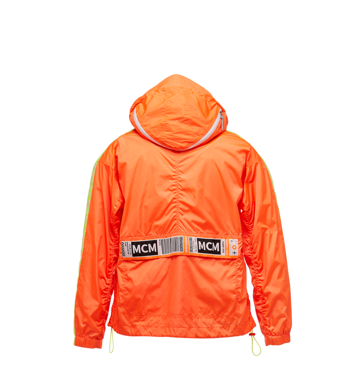 MCM Women's Webbed Anorak in Lightweight Nylon Orange MFA9SMM69OR040 Alternate View 3