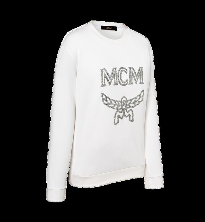 MCM Women's Crystal Detail Logo Sweatshirt White MFA9SMM97WT00L Alternate View 2
