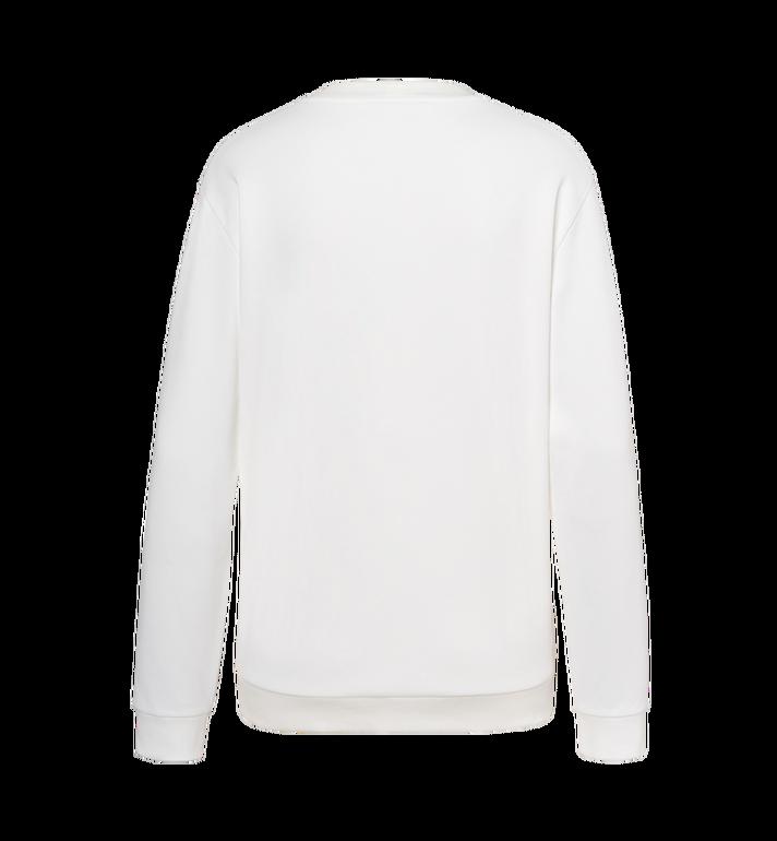 MCM Women's Crystal Detail Logo Sweatshirt White MFA9SMM97WT00L Alternate View 3