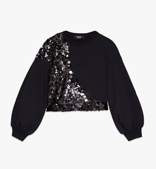 Sweatshirt mit Discokugel aus Pailletten für Damen
