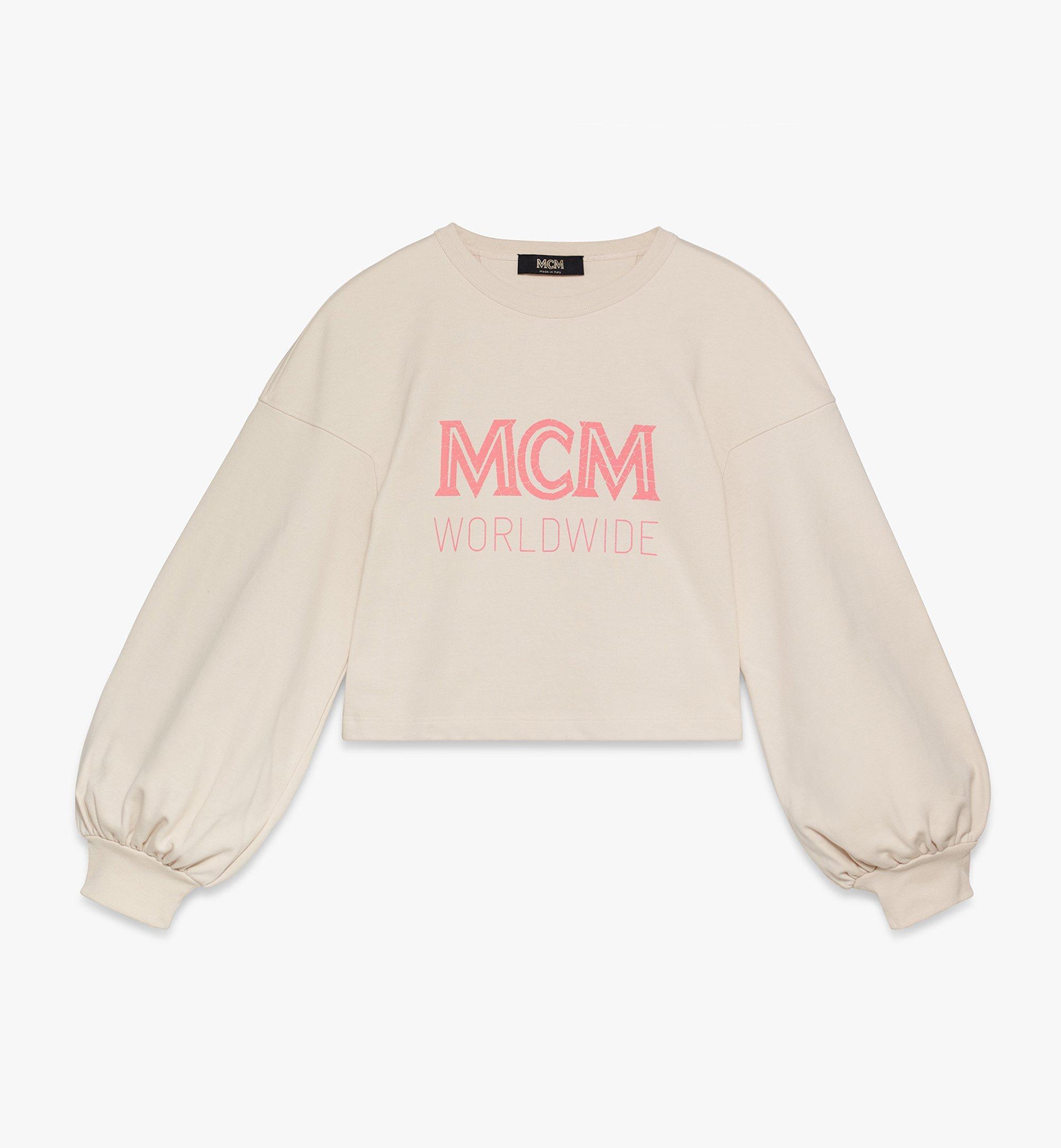MCM Women's MCM Worldwide Sweatshirt Beige MFAASMM03IH00M Alternate View 1