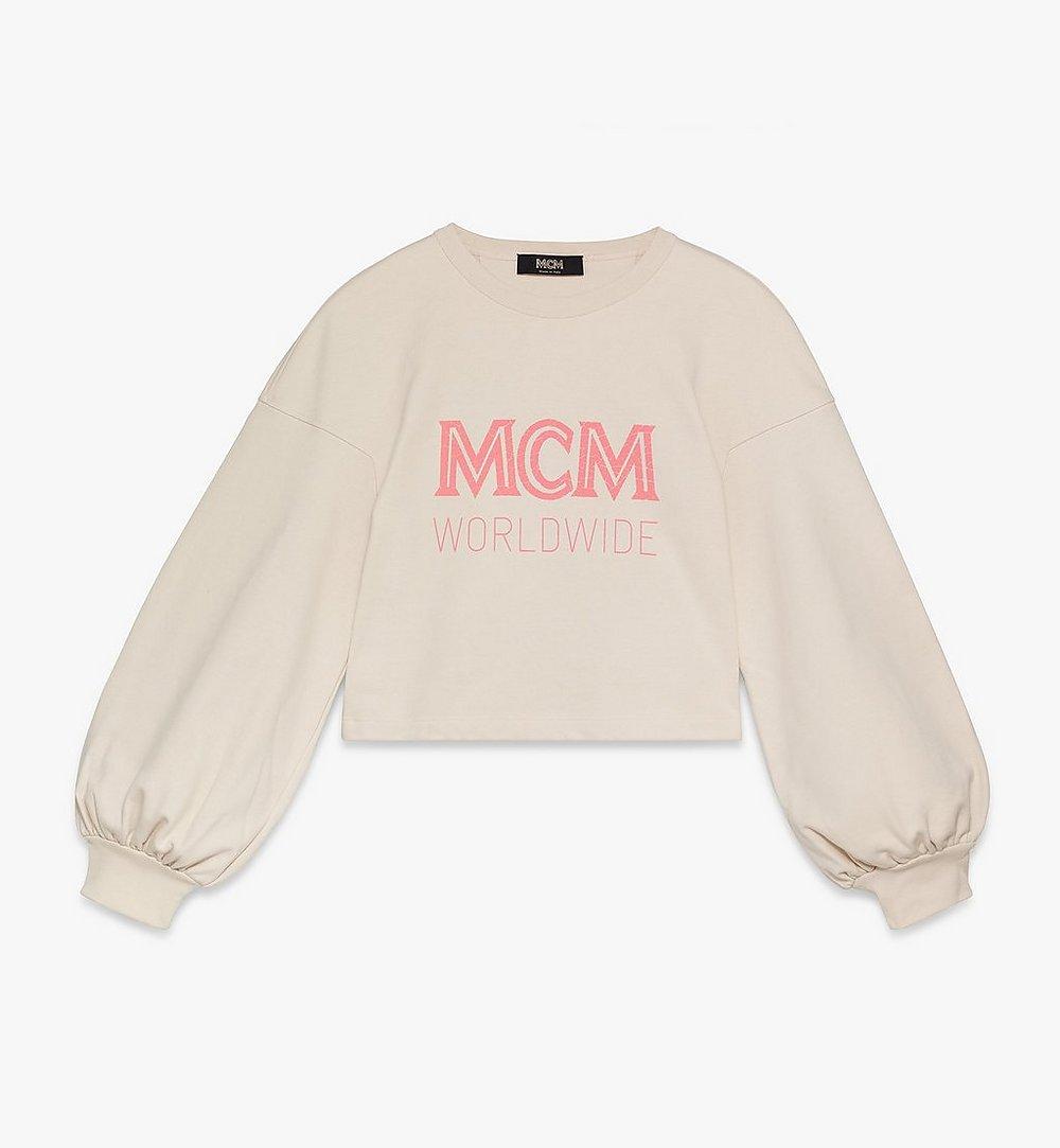 MCM Women's MCM Worldwide Sweatshirt Beige MFAASMM03IH00S Alternate View 1