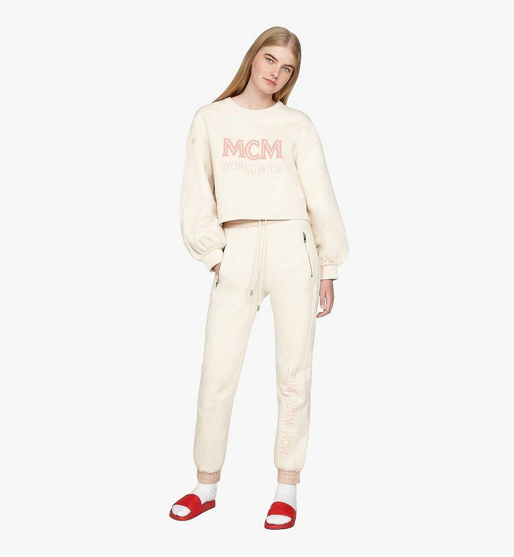 MCM Women's MCM Worldwide Sweatshirt Beige MFAASMM03IH00S Alternate View 2