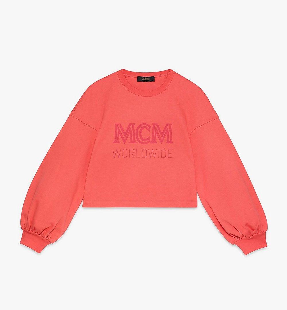 MCM Women's MCM Worldwide Sweatshirt Orange MFAASMM03O300M Alternate View 1