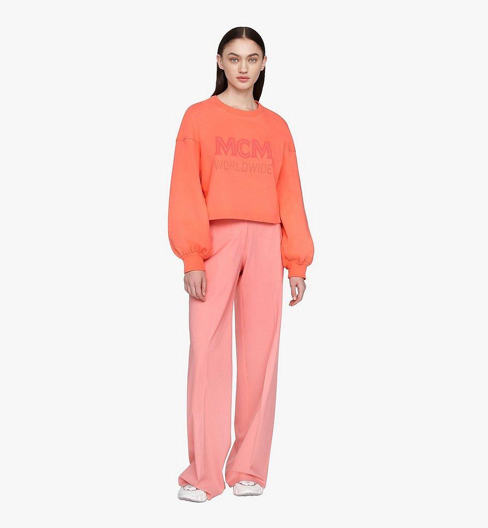 MCM Women's MCM Worldwide Sweatshirt Orange MFAASMM03O300M Alternate View 2