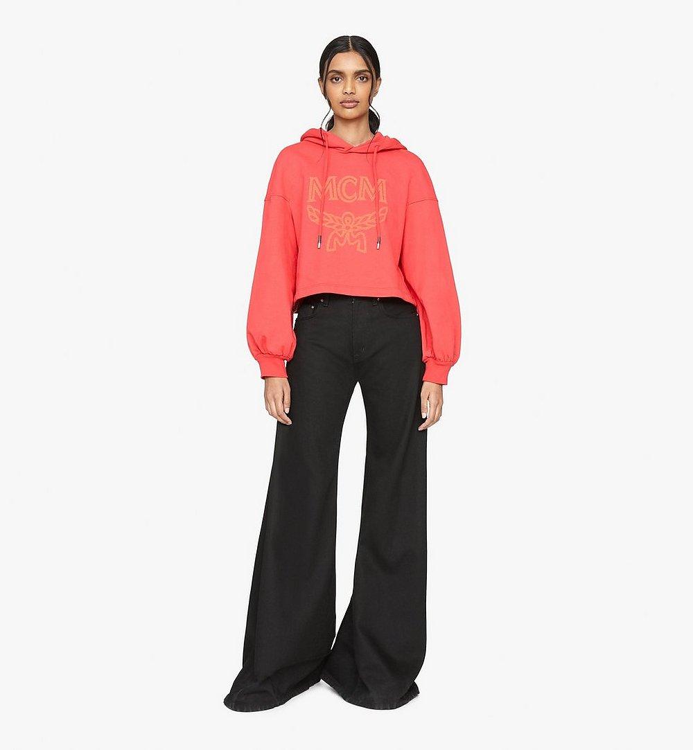 MCM เสื้อมีฮู้ดติดซิปสำหรับผู้หญิงพิมพ์ลายโลโก้ Red MFAASMM04R400L มุมมองอื่น 2