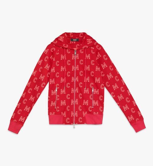 Sweat-shirt à capuche zippé monogrammé pour femme