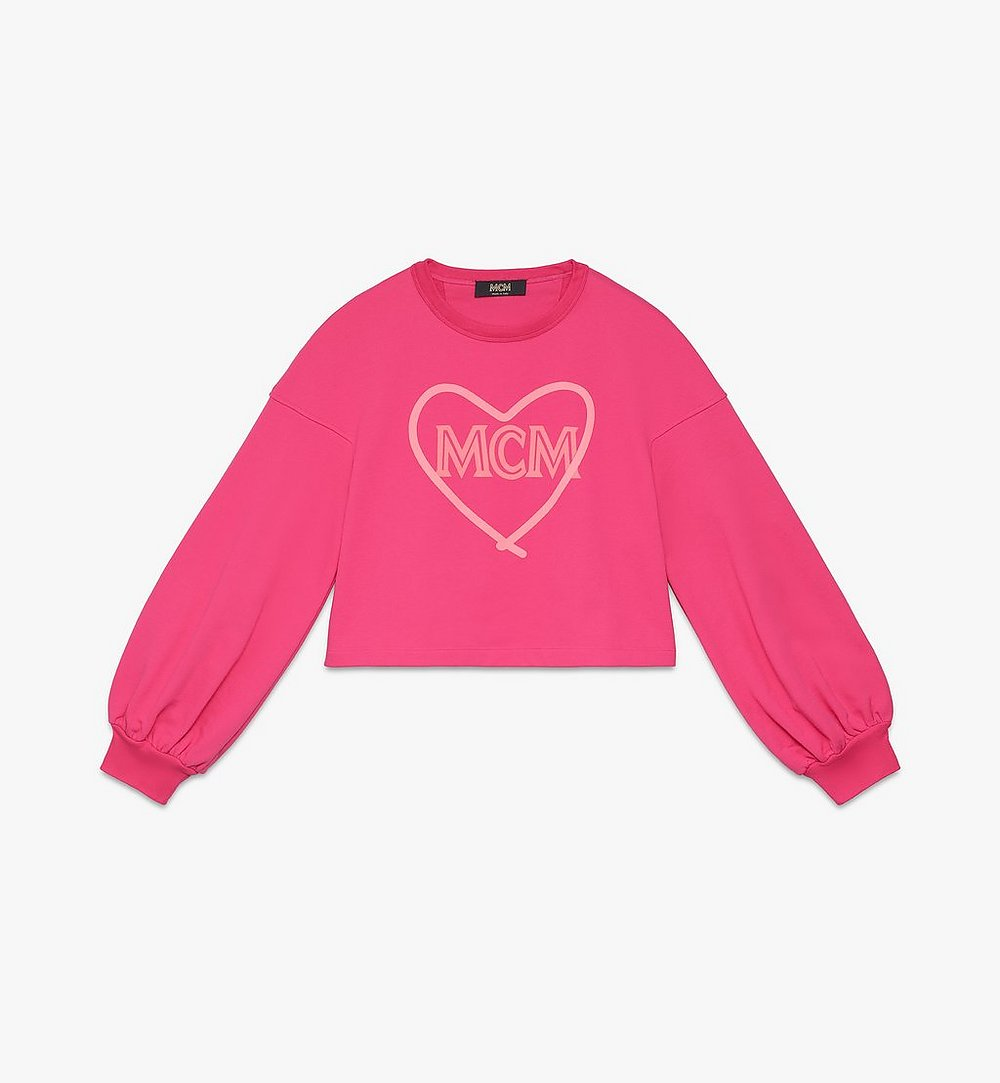 MCM Women's Valentine Balloon Sleeve Sweater Pink MFAASXN01QE00L Alternate View 1