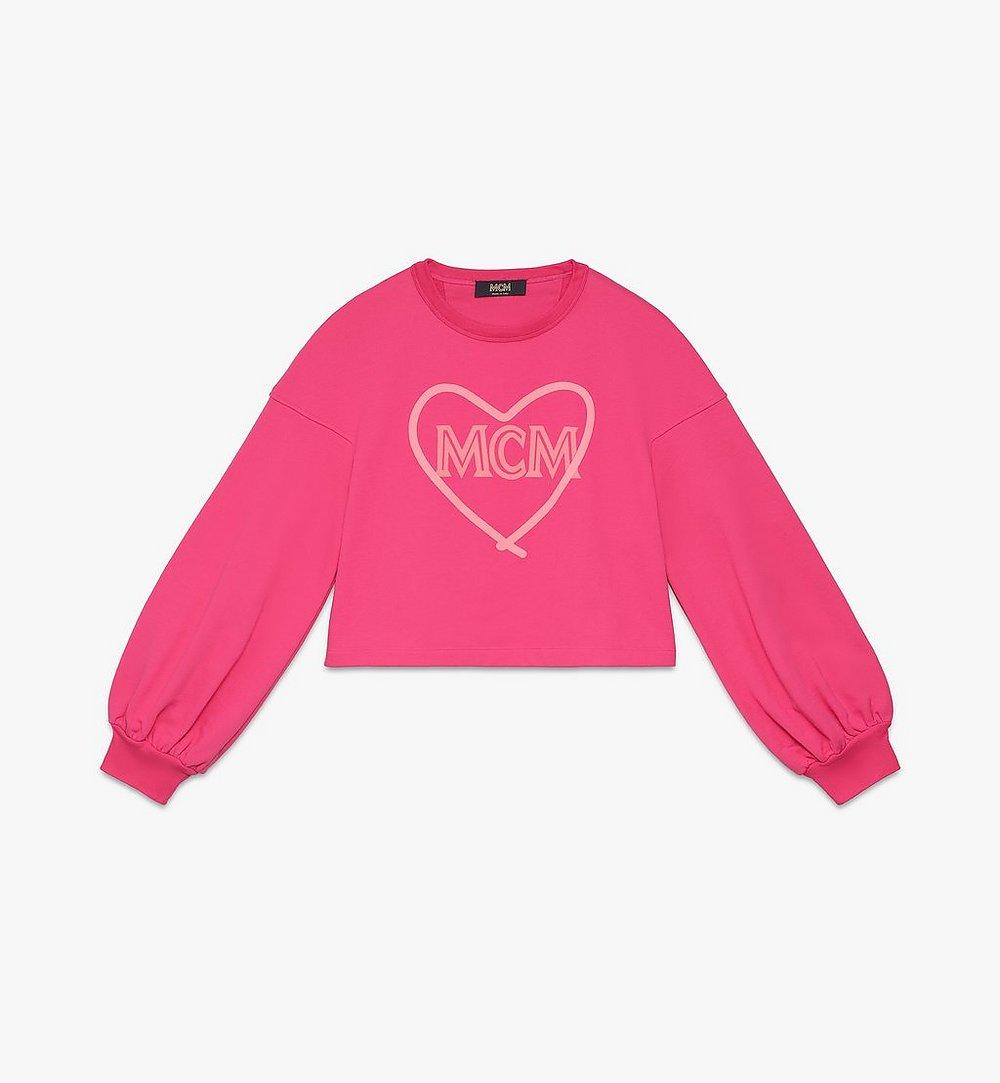 MCM Women's Valentine Balloon Sleeve Sweater Pink MFAASXN01QE00M Alternate View 1