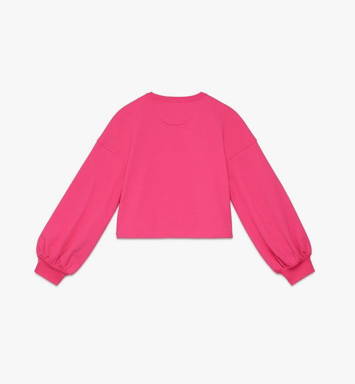 MCM 여성용 발렌타인 벌룬 슬리브 스웨터 Pink MFAASXN01QE00S Alternate View 2
