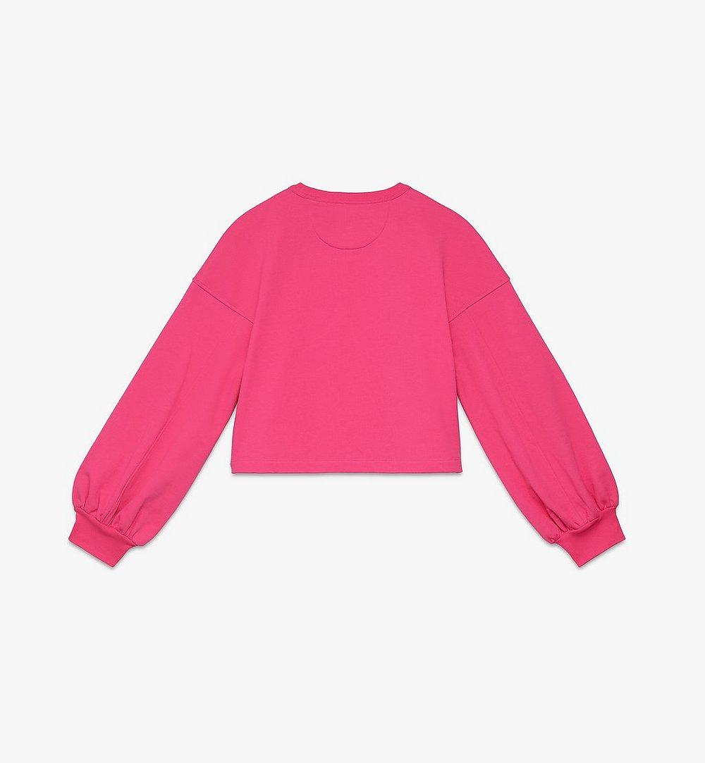 MCM Women's Valentine Balloon Sleeve Sweater Pink MFAASXN01QE00S Alternate View 1