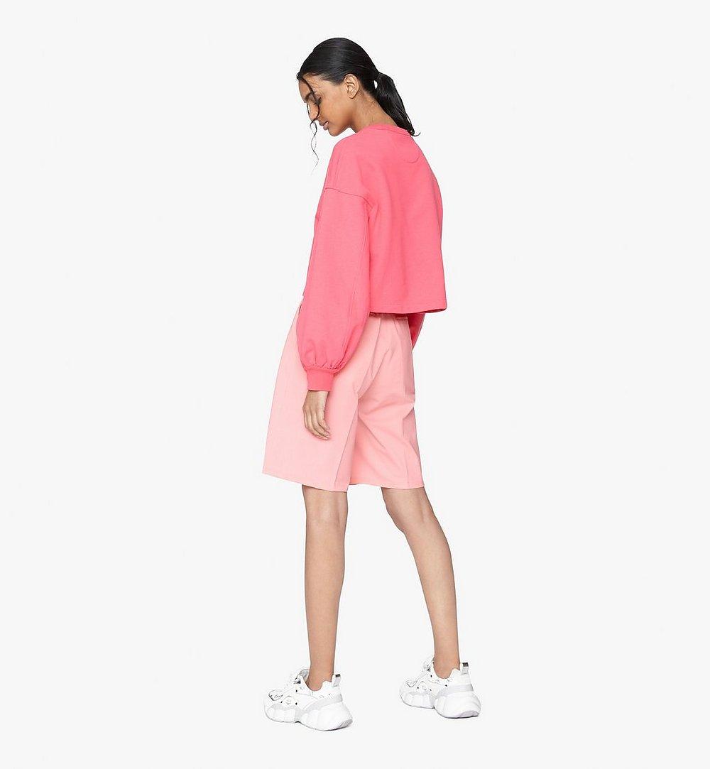 MCM Women's Valentine Balloon Sleeve Sweater Pink MFAASXN01QE00S Alternate View 2