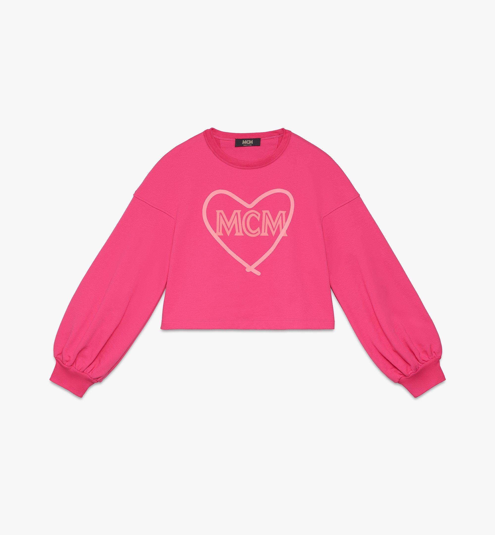 MCM Women's Valentine Balloon Sleeve Sweater Pink MFAASXN01QE0XS Alternate View 1