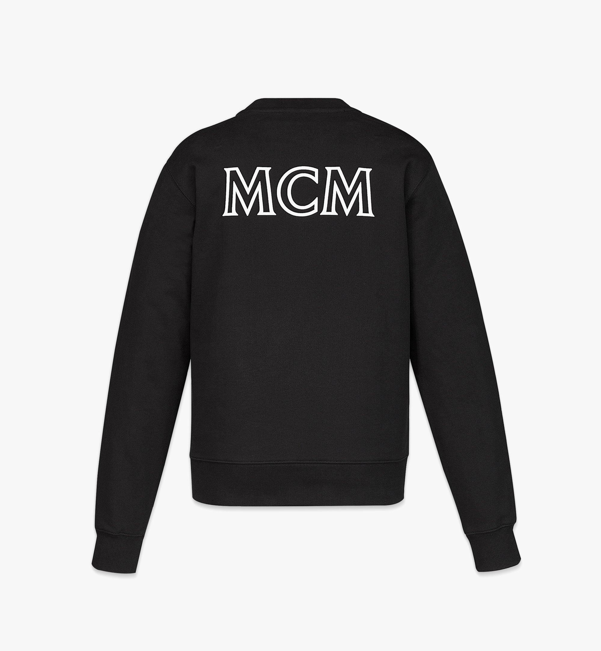 MCM Women's MCM Essentials Logo Sweatshirt in Organic Cotton Black MFABABC01BK00L Alternate View 1