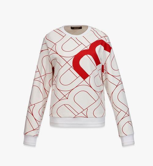 Sweatshirt mit Wave Visetos Print für Damen