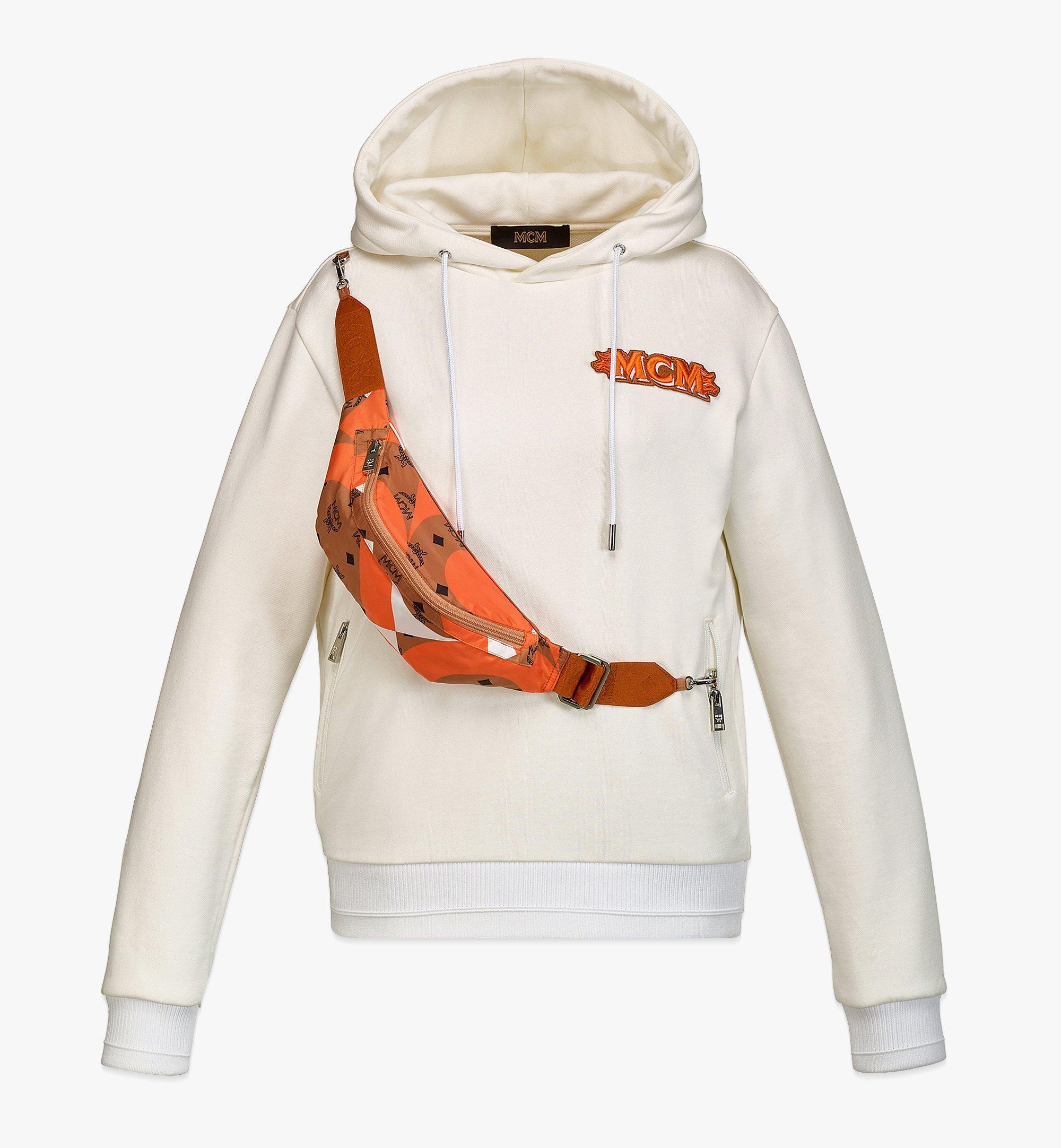 MCM ウィメンズ ロゴ フーディー バウハウス ヴィセトス ベルトバッグ付き Orange MFABASX02O900L ほかの角度から見る 1