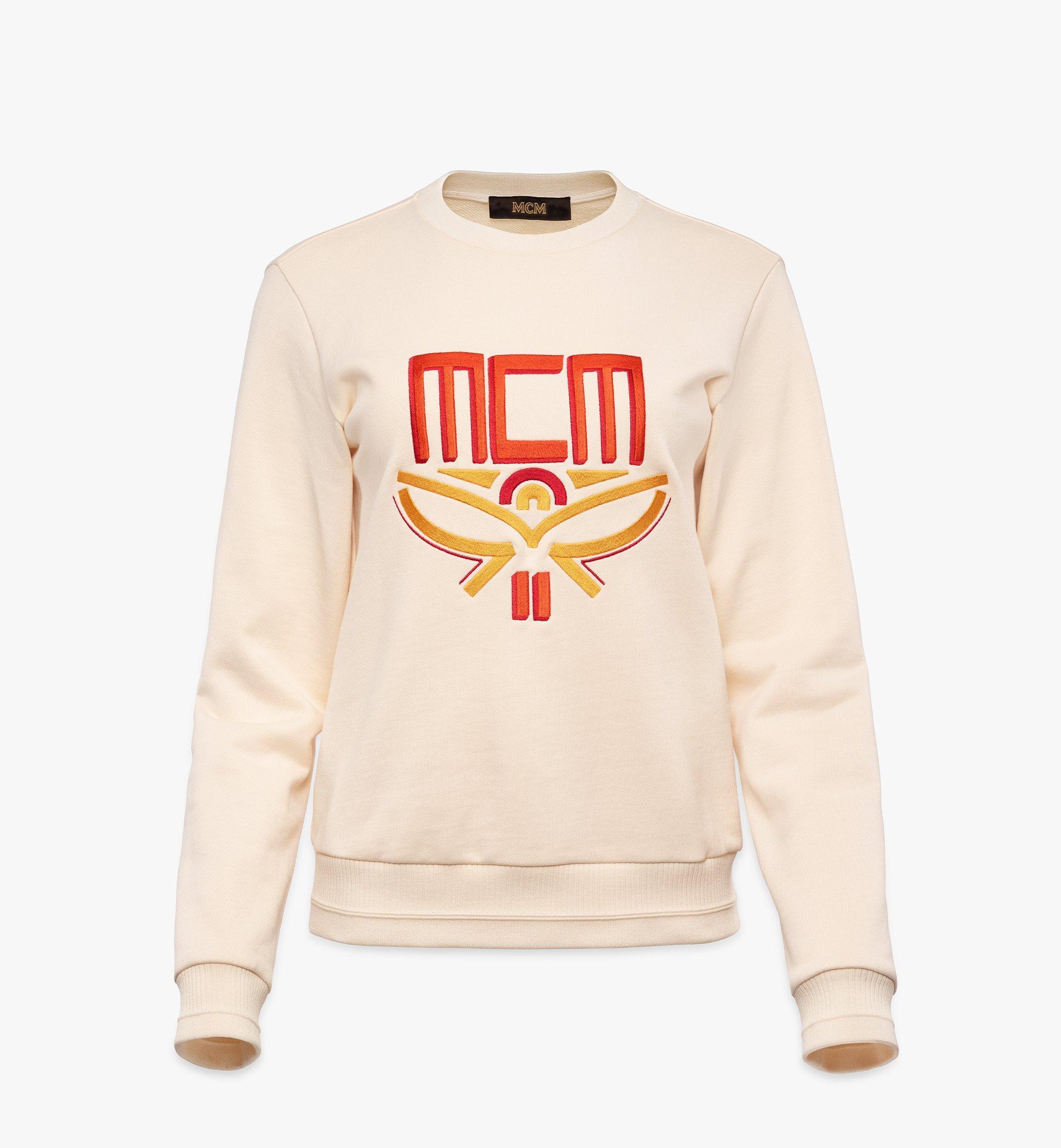 MCM 女士 Geo 月桂運動衫 White MFABSMM01IO00M 更多視圖 1