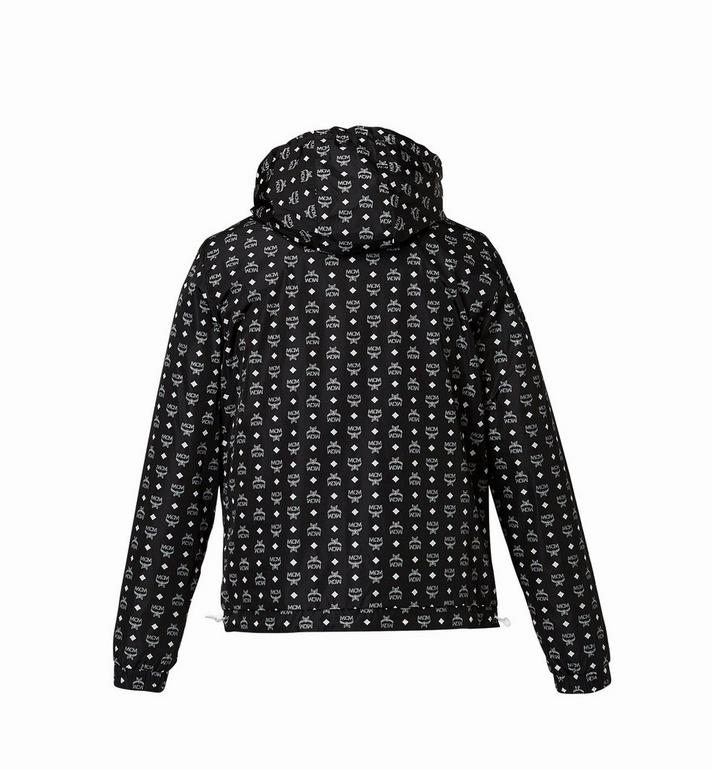 MCM Women's Monogram Reversible Windbreaker Black MFC8SMM02BK00S Alternate View 3