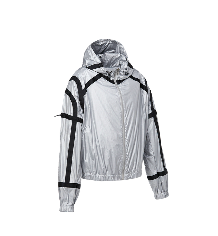 MCM Women's Holographic Parachute Bomber Jacket Silver MFC9SNX34SV040 Alternate View 2