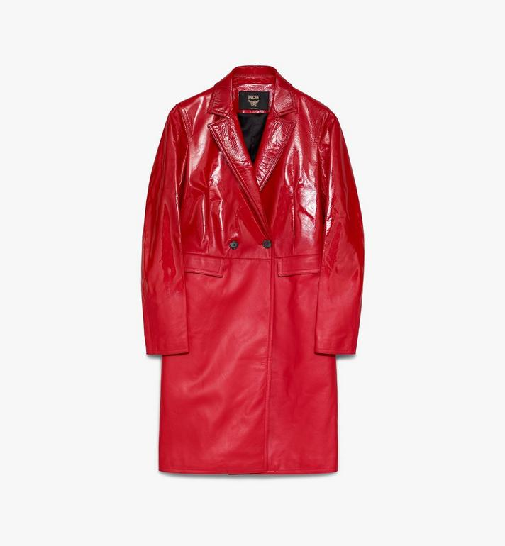 MCM Women's 1976 Leather Coat Red MFCASMV01R4040 Alternate View 1