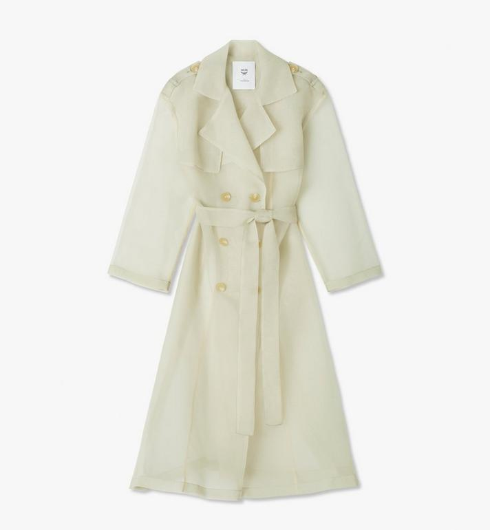 MCM Women's MCM by PHENOMENON Trench Coat Beige MFCASOP01IG00L Alternate View 1