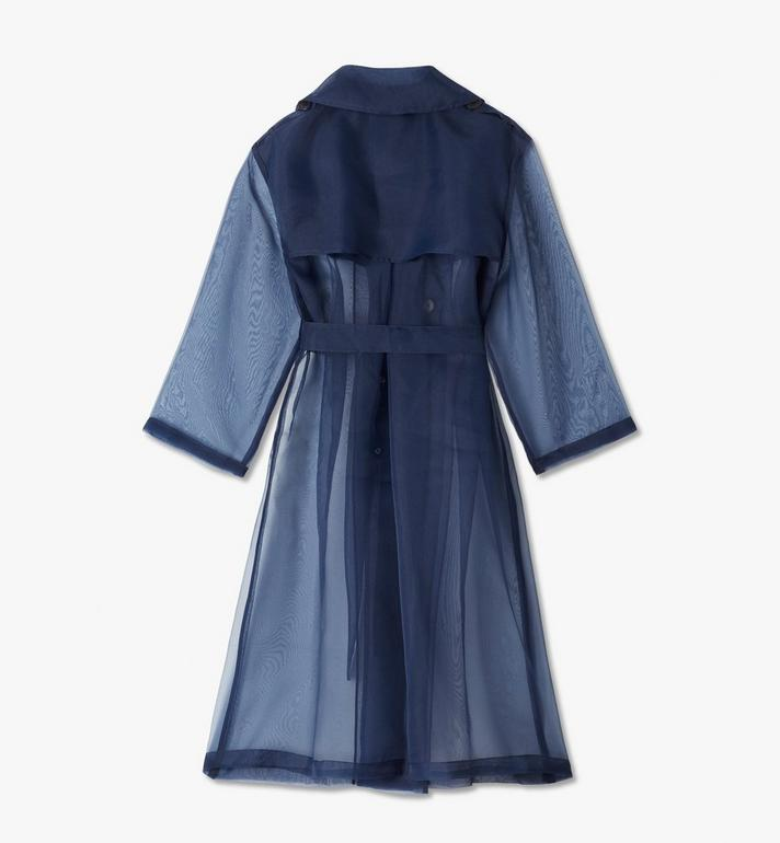 MCM Women's MCM by PHENOMENON Trench Coat Navy MFCASOP01VY00L Alternate View 2