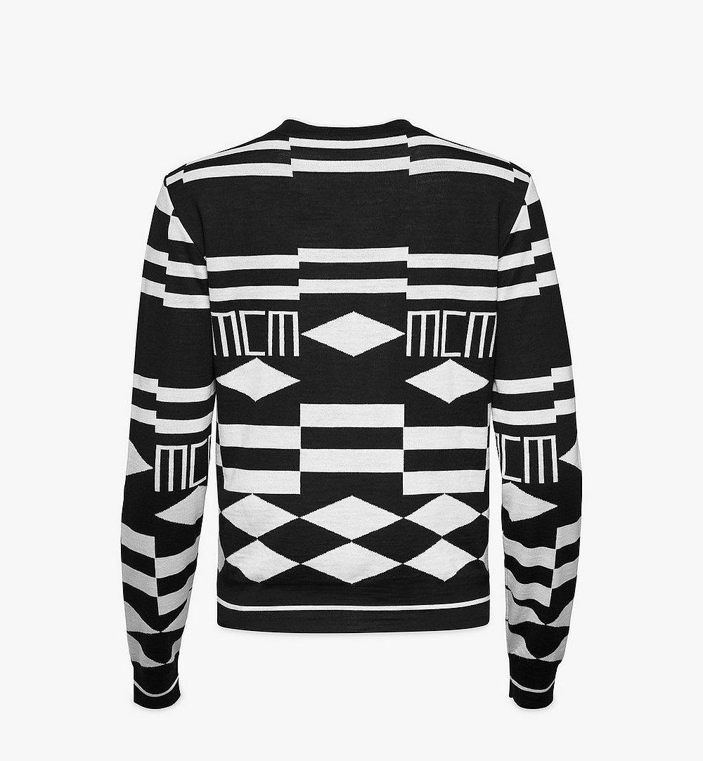 MCM Women's Geo Sequin Wool Sweater Black MFEBSMM02B200S Alternate View 1