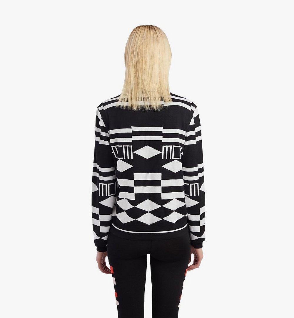 MCM Women's Geo Sequin Wool Sweater Black MFEBSMM02B200S Alternate View 3