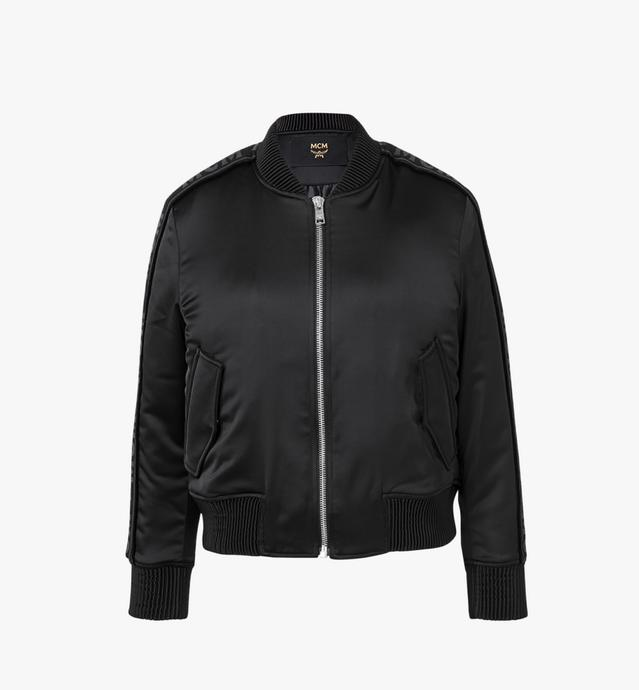 Women's Logo Tape Satin Bomber Jacket