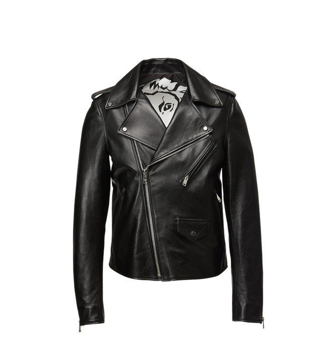 MCM Women's Embossed Logo Leather Rider Jacket Alternate View
