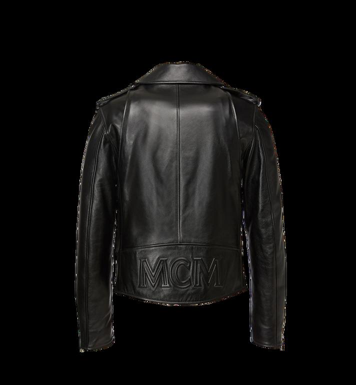 MCM Women's Embossed Logo Leather Rider Jacket Black MFJ8AMM42BK00L Alternate View 3